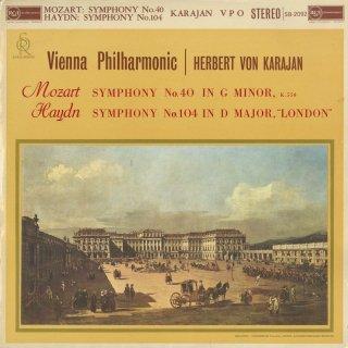 モーツァルト:交響曲40番K.550,ハイドン:交響曲104番「ロンドン」