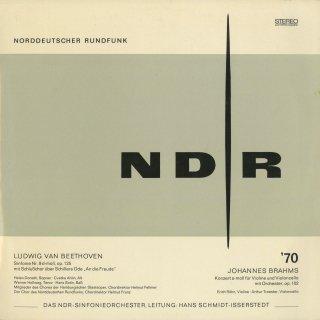 ベートーヴェン:交響曲9番Op.125「合唱」,ブラームス:二重協奏曲