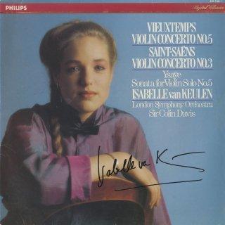 サン・サーンス:ヴァイオリン協奏曲3番Op.61,ヴュータン:ヴァイオリン協奏曲5番Op.37,イザイ:無伴奏ヴァイオリン・ソナタOp.27-5