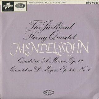 メンデルスゾーン:弦楽四重奏曲2番Op.13,3番Op.44−1