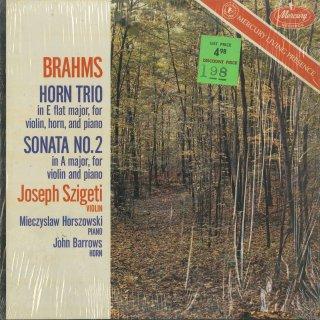 ブラームス:ホルン・トリオOp.40,ヴァイオリン・ソナタ2番Op.100