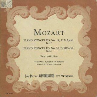 モーツァルト:ピアノ協奏曲19番K.459,20番K.466