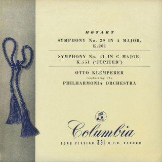 モーツァルト:交響曲29番K.201,41番K.551