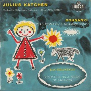 ドホナーニ:童謡の主題による変奏曲Op.25,ラフマニノフ:パガニーニ狂詩曲Op.43