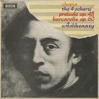 ショパン:スケルツォ1,2,3,4番,前奏曲Op.45,舟歌Op.60
