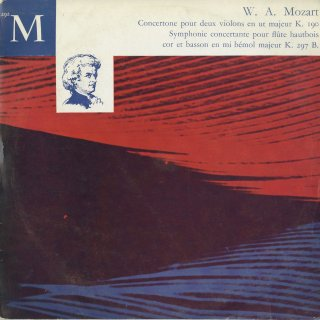 モーツァルト:2台のヴァイオリンのためのコンチェルトーネK.190,協奏交響曲K.297b