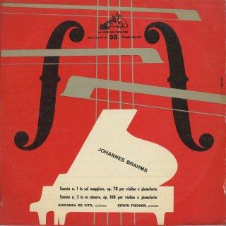 ブラームス:ヴァイオリン・ソナタ1番Op.78,3番Op.108