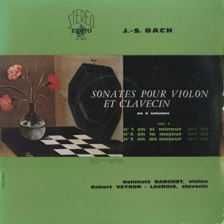 バッハ:6つのヴァイオリン・ソナタVol.1・2/BWV.1014〜9