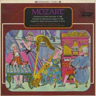 モーツァルト:フルートとハープのための協奏曲K.299,自動オルガンのための幻想曲K.608,アダージョK.617a