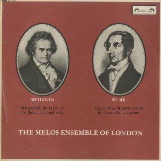 ベートーヴェン:セレナーデOp.25,ウェーバー:フルート・チェロ・ピアノの三重奏曲Op.63
