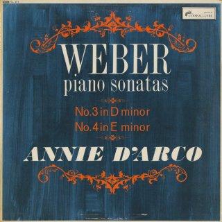 ウェーバー:ピアノ・ソナタ3番Op.49,4番Op.70