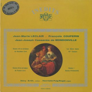 ルクレール:ヴァイオリン・ソナタ(2曲),クープラン:趣味の融合14番,モンドンヴィル:クラヴサン小品集〜2曲