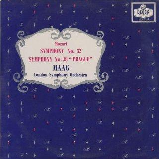 モーツァルト:交響曲32番K.318,38番「プラハ」K.504