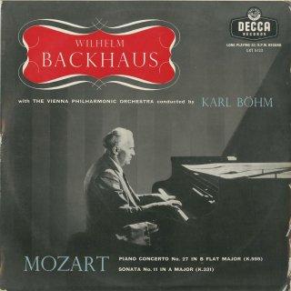 モーツァルト:ピアノ協奏曲27番K.595,ピアノ・ソナタ11番K.331