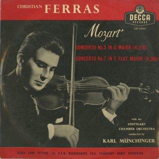 モーツァルト:ヴァイオリン協奏曲7番K.268,3番K.216