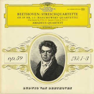 ベートーヴェン:弦楽四重奏曲7,8,9番Op.59−1〜3「ラズモフスキー1,2,3番」