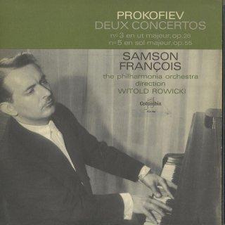 プロコフィエフ:ピアノ協奏曲3番Op.26,5番Op.55