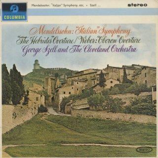 メンデルスゾーン:交響曲4番「イタリア」,序曲「フィンガルの洞窟」,ウェーバー:序曲「オベロン」