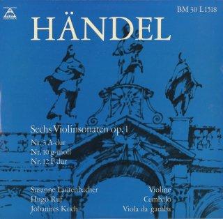 ヘンデル:6つのヴァイオリン・ソナタOp.1−3,10,12〜15