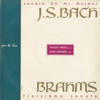 バッハ:ヴァイオリン・ソナタ3番BWV.1016,ブラームス:ヴァイオリン・ソナタ3番Op.108