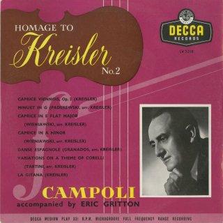 「クライスラーへのオマージュVol.2」ウィーン奇想曲,ジプシーの女,スペイン舞曲,奇想曲,コレッリの主題による変奏曲 他全7曲