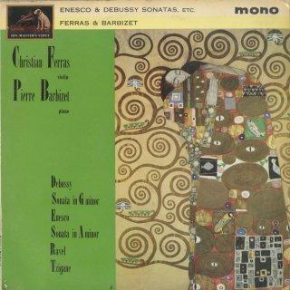 ヴァイオリン・ソナタ集/エネスク:3番Op.25「ルーマニアの民俗風で」,ドビュッシー,ラヴェル:ツィガーヌ