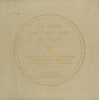モーツァルト:ヴァイオリン・ソナタK.296,60,378,379,58,481
