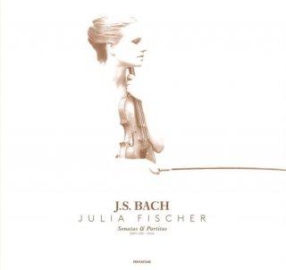 【新作LPレコード】ユリア・フィッシャーのバッハ/無伴奏ヴァイオリンのためのソナタとパルティータ(全6曲) KKC1080/82 3LP