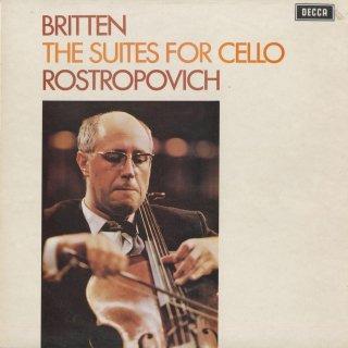 ブリテン:無伴奏チェロ組曲1番Op.72,2番Op.80