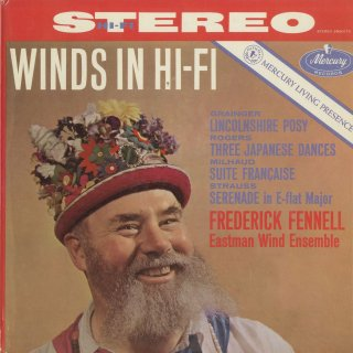 ミヨー:フランス組曲,リヒャルト・シュトラウス:セレナーデOp.7,グレインジャー:リンカンシャーの花束,ロジャーズ:3つの日本の踊り