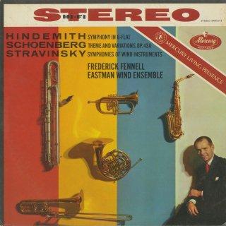 ヒンデミット:交響曲,シェーンベルク:主題と変奏Op.43a,ストラヴィンスキー:吹奏楽のための交響曲