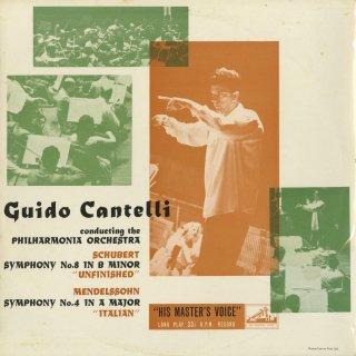 シューベルト:交響曲8番「未完成」,メンデルスゾーン:交響曲4番「イタリア」