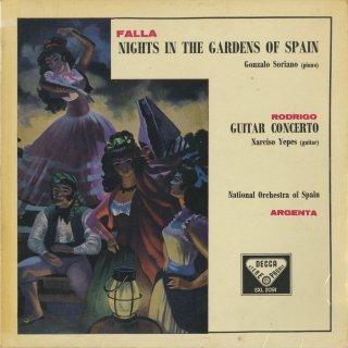 ロドリーゴ:アランフェス協奏曲,ファリャ:スペインの庭の夜