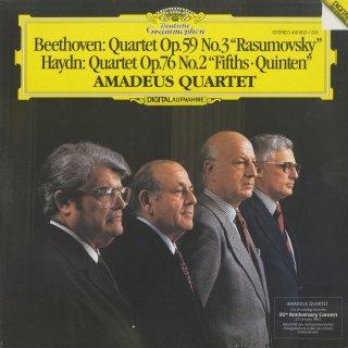 ベートーヴェン:弦楽四重奏曲9番Op.59-3「ラズモフスキー」,ハイドン:弦楽四重奏曲Op.76-2「五度」