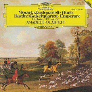 モーツァルト:弦楽四重奏曲17番K.458「狩」,ハイドン:弦楽四重奏曲77番「皇帝」