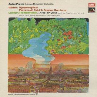 ウォルトン:交響曲2番,序曲「ポーツマス岬」,喜劇的序曲「スカピーノ」,ランバート:カンタータ「リオ・グランデ」