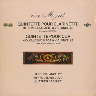モーツァルト:クラリネット五重奏曲K.581,ホルン五重奏曲K.407