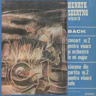 バッハ:ヴァイオリン協奏曲2番BWV.1042,パルティータ2番BWV.1004〜シャコンヌ