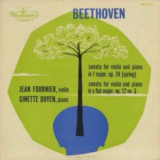 ベートーヴェン:ヴァイオリン・ソナタ3番Op.12-3,5番Op.24「春」