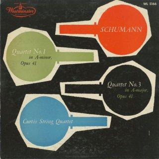 シューマン:弦楽四重奏曲1番Op.41-1,3番Op.41-3