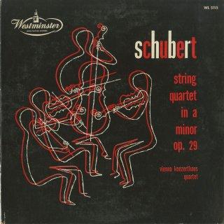 シューベルト:弦楽四重奏曲13番Op.29「ロザムンデ」