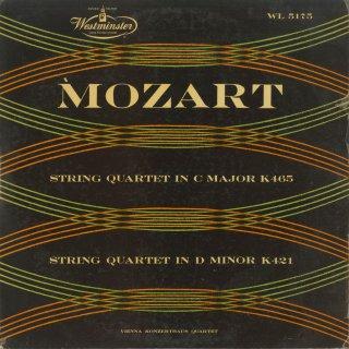 モーツァルト:弦楽四重奏曲15番K.421,19番「不協和音」K.465