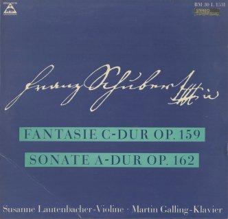 シューベルト:ヴァイオリンとピアノのための幻想曲Op.159,二重奏曲Op.162