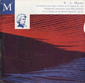 モーツァルト:2つのヴァイオリンのためのコンチェルトーネK.190,協奏交響曲K.297b