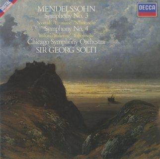 メンデルスゾーン:交響曲3番「スコットランド」,4番「イタリア」