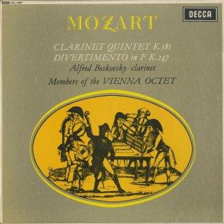 モーツァルト:クラリネット五重奏曲K.581,ディヴェルティメント10番K.247