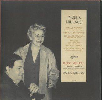 ミヨー:結婚カンタータ,ロンサールの4つの歌,四大元素,ボリヴァール〜アリア他,F.ジャムによる6つの歌曲