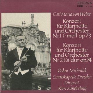 ウェーバー:クラリネット協奏曲1番Op.73,2番Op.74