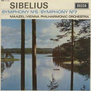 シベリウス:交響曲5番Op.82,7番Op.105