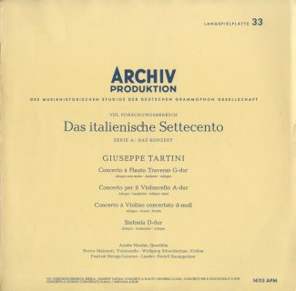 タルティーニ:フルート協奏曲,ヴァイオリン協奏曲,チェロ協奏曲,シンフォニア・パストラーレ